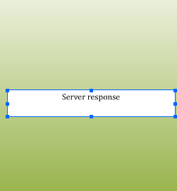 The Server Response screen