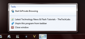 "A TechLabs taskbar ""Pin"""