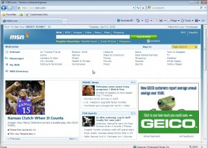 Internet Explorer 8 Old UI