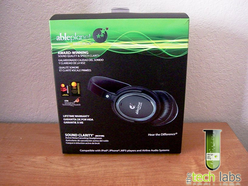 Able Planet Sound Clarity Noise Reduction Headphones Package