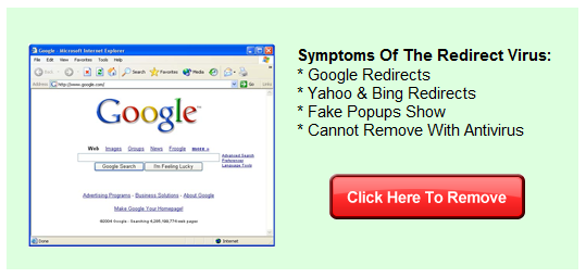 Google Redirect Virus Removal Symptoms