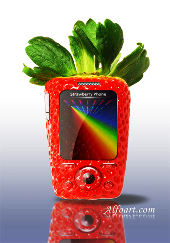 4 Strawberry phone