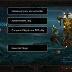 Diablo 3 Character Select Main Menu