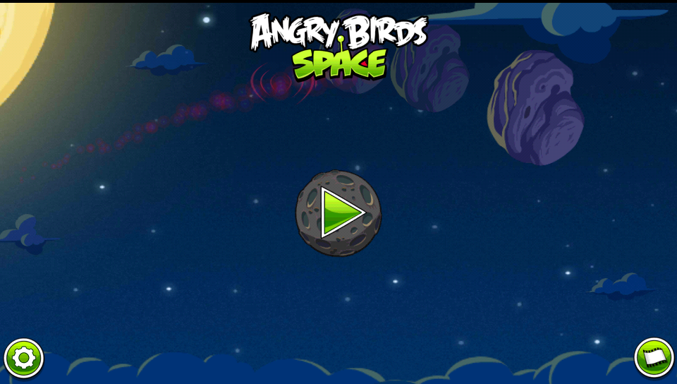 Angry Birds Space Title Menu