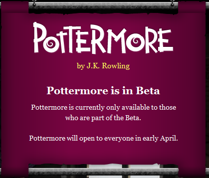 Pottermore Closed Beta