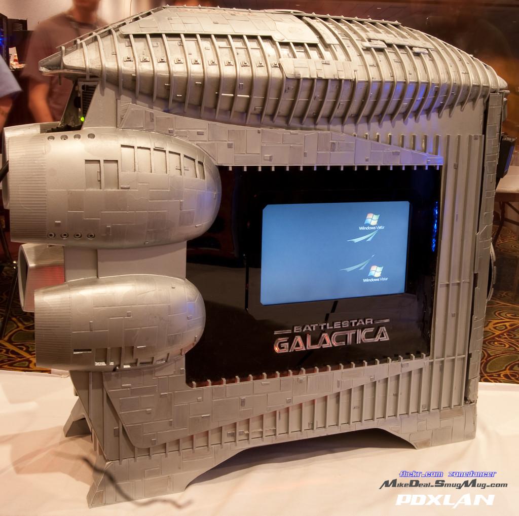 Battlestar Galactica Custom Case Mod