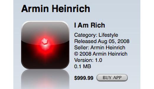 Worst Mobile Apps - I Am Rich Mobile App