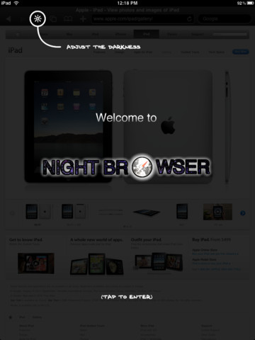 Night Browser for iPad