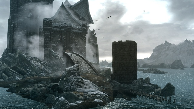 Dawnguard Skyrim Expansion- Castle Valkhir the Vampire Stronghold