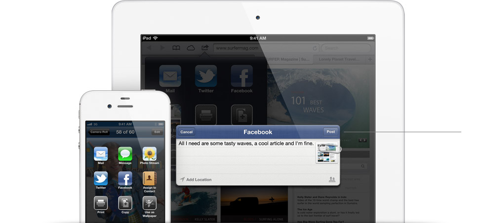 Facebook is now Integrated Into iOS 6