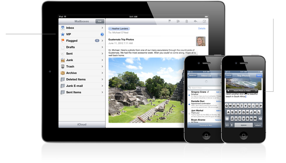 Improved Mail App in iOS 6