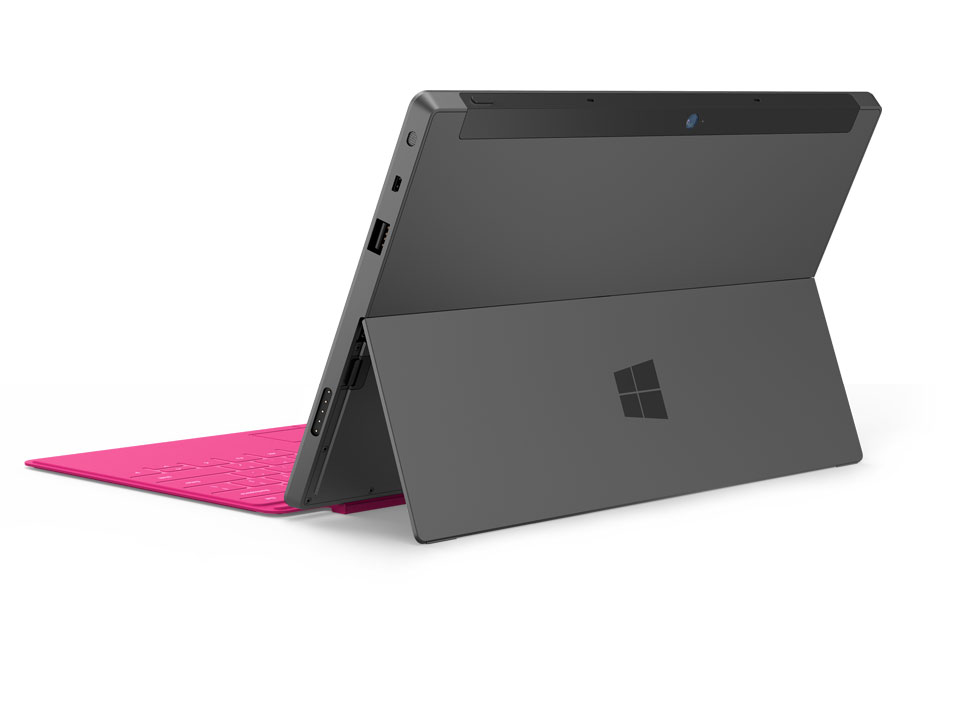 Microsoft Surface Windows 8 Tablet Rear And Kickstand