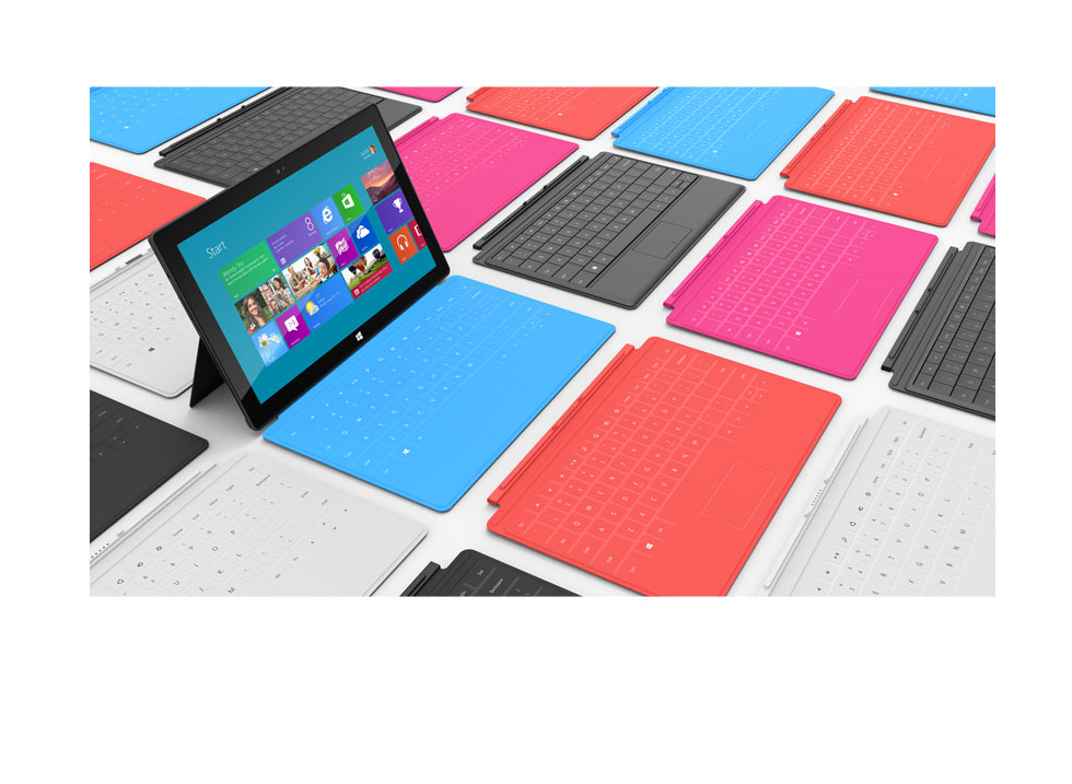 Microsoft Surface Windows 8 Tablet With Magnetic Cases
