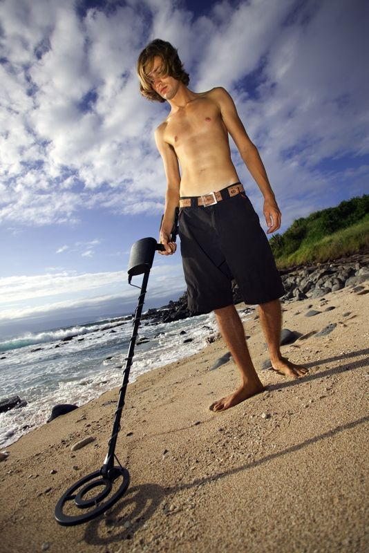 Using a Metal Detector to Look For Treasure, Not Nerdy in The Slightest