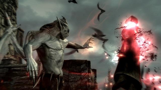 Skyrim Dawnguard Vampire Draining Enemy Soul For Health