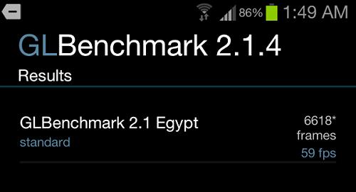 Galaxy S3 3D de performanță rezultate