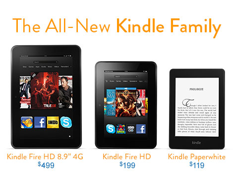 The All New Kindle Fire HD Family