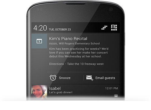 Expandable Notifications in Android 4.2 Jelly Bean
