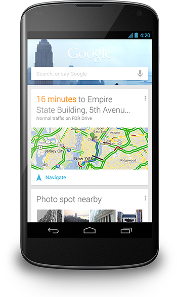 Google Now Improved in Android 4.2 Jelly Bean
