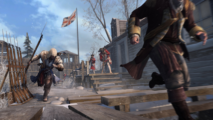 Assassins Creed III Connor Chasing His Prey