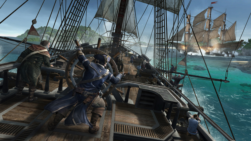 Assassins Creed III Naval Battle