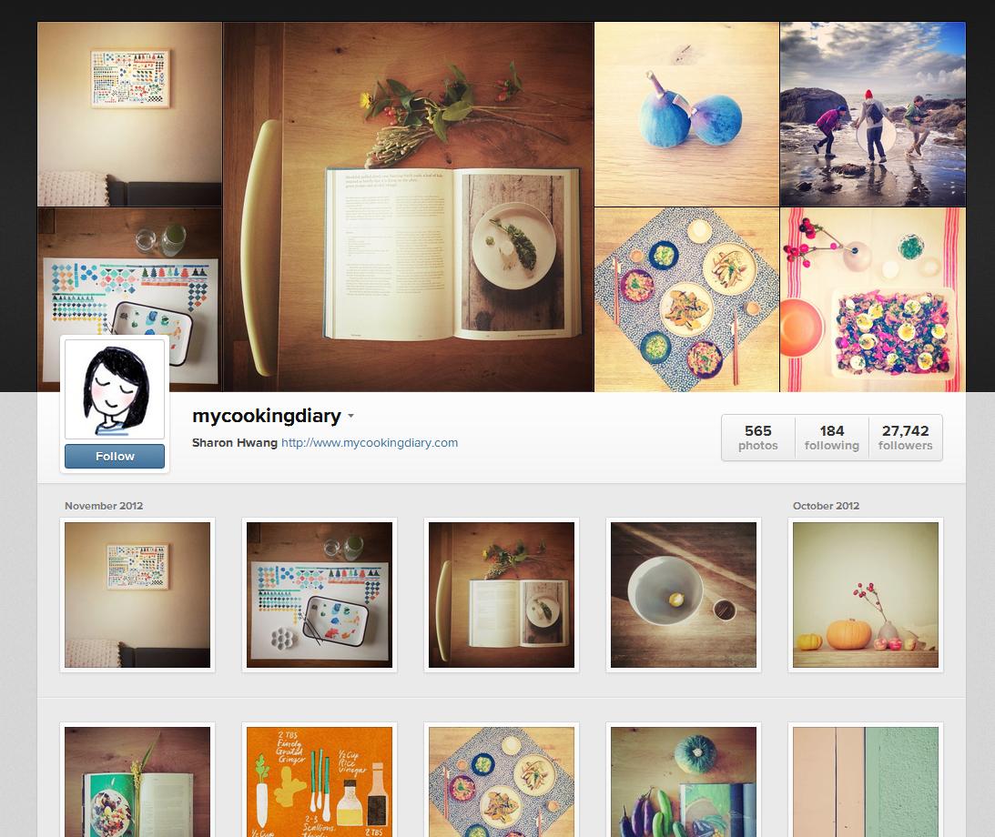 MyCookingDiary Instagram Web Profile