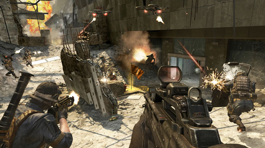 Call of Duty Black Ops II Multiplayer on Aftermath Flag Rush