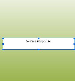 The Server Response screen