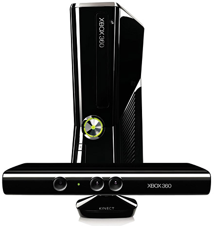 Xbox 360 Slim Console with Kinect