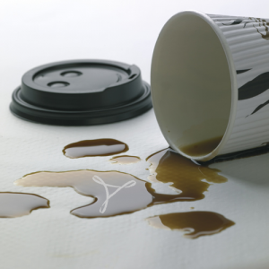 Spilled Coffee with Adobe CreatePDF Icon