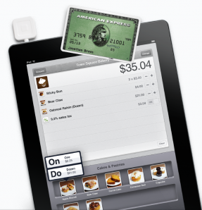 Square Register on iPad with Credit Card Reader