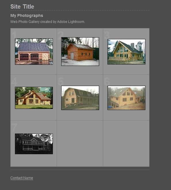 Adobe Lightroom Review- Web Menu