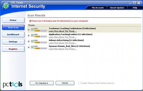 PC Tools Internet Security Suite 2011