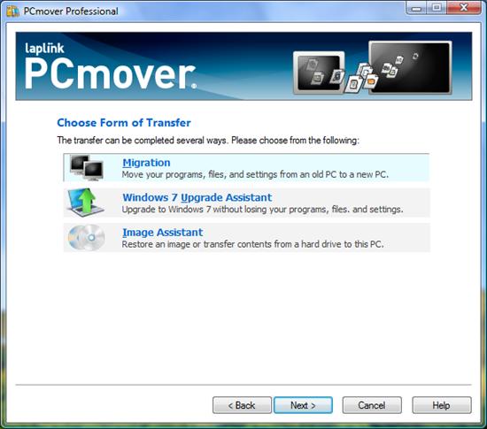 Laplink PCmover Migration Software Transfer Methods
