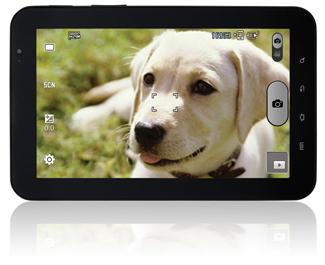 "The Samsung Galaxy Tab 7"" camera in use"