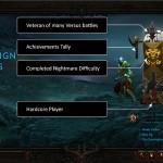 Diablo 3 Character Select Main Menu