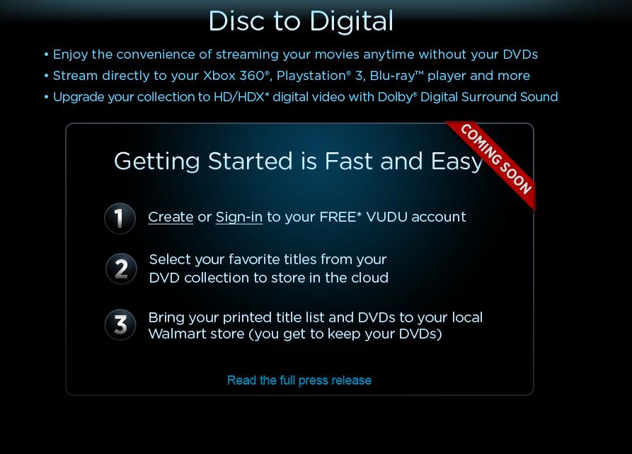 Disc to Digital Service Process