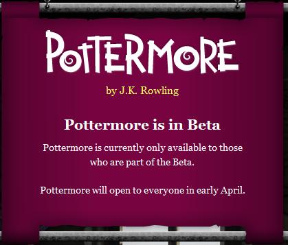 Pottermore Closed Beta