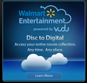 Wal-Mart Disc to Digital Service Ad