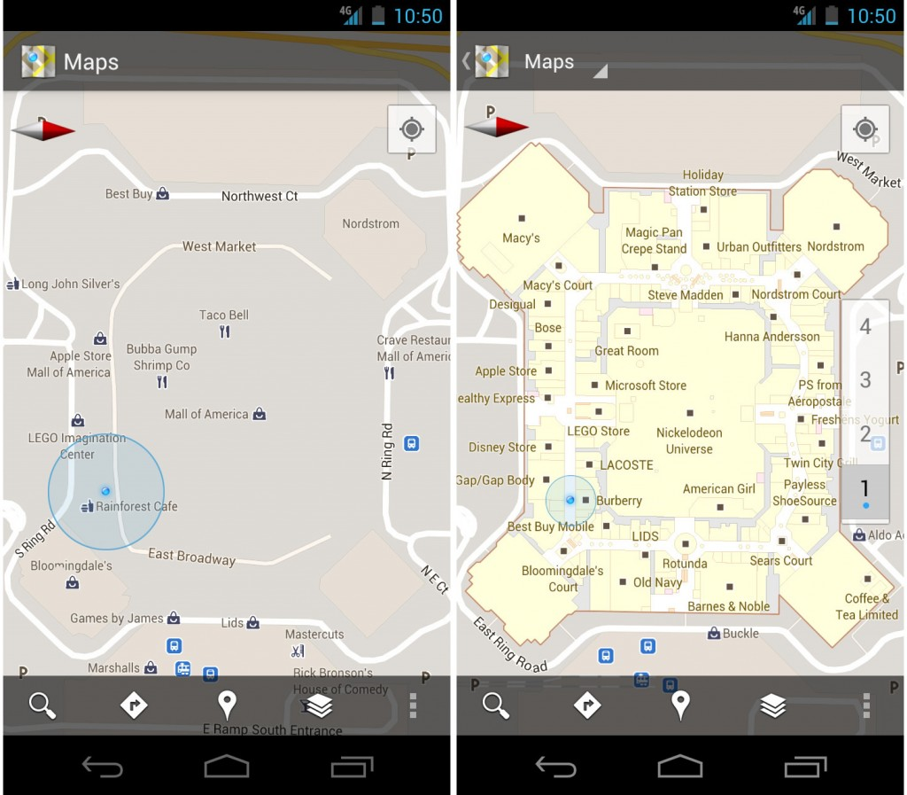 Google Maps Indoor Venue Mapping Location Data