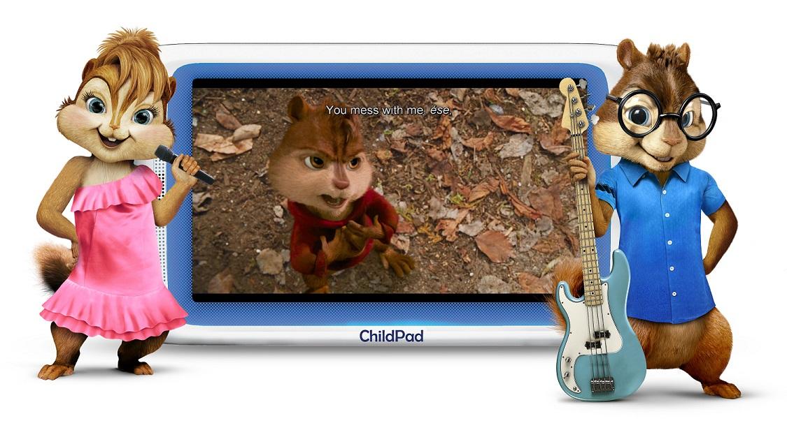 ARNOVA Archos Child Pad Exclusive Alvin and the Chipmunks Content