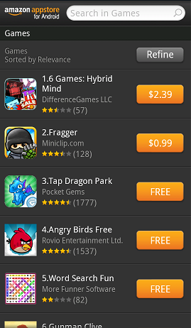 Amazon Appstore For Android App Listing