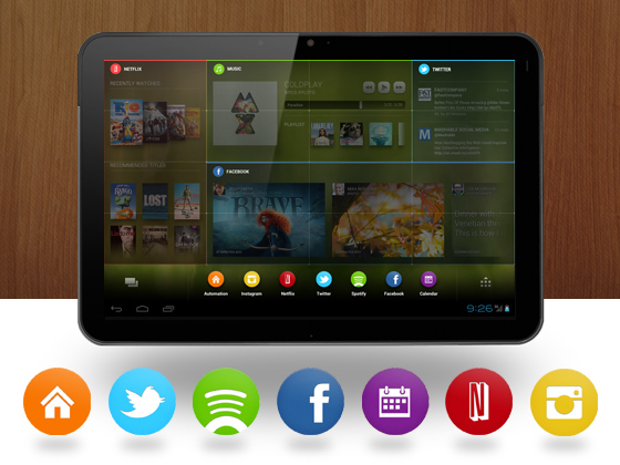 Chameleon Application - Customized Widgets