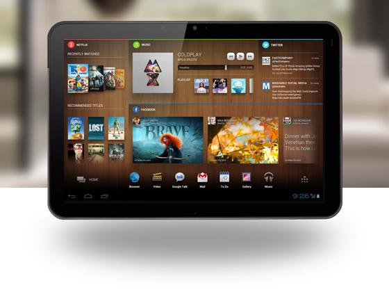 Chameleon Application - Entertainment Home Screen