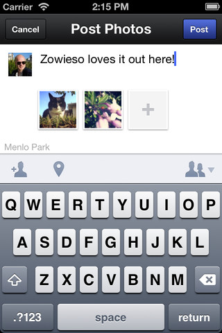 Uploading Images in The Facebook Camera For iOS App