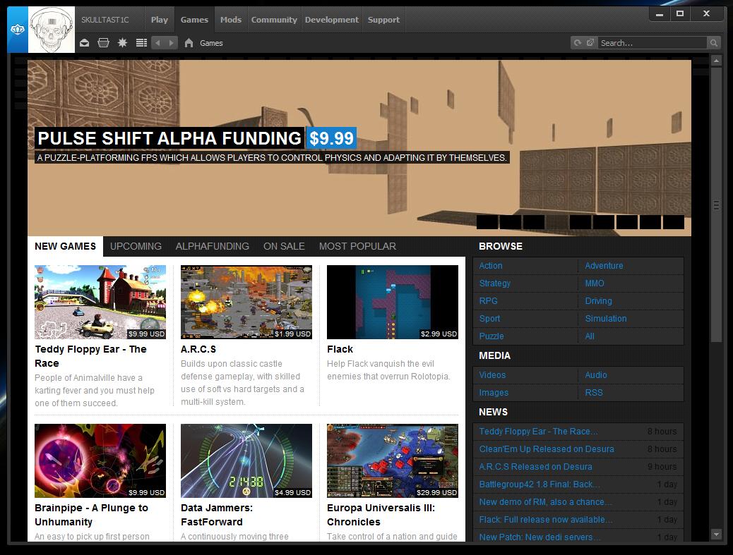 Desura Indie Game Platform