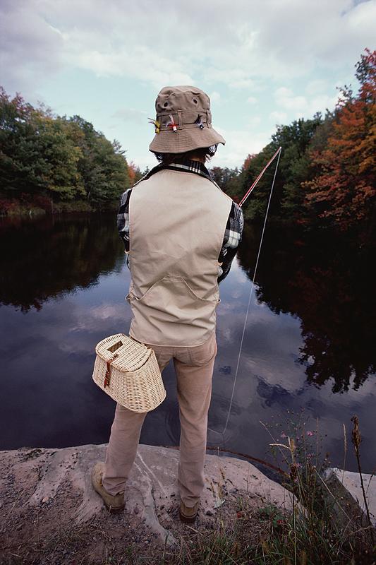 He's Fishing, What a Nerd.