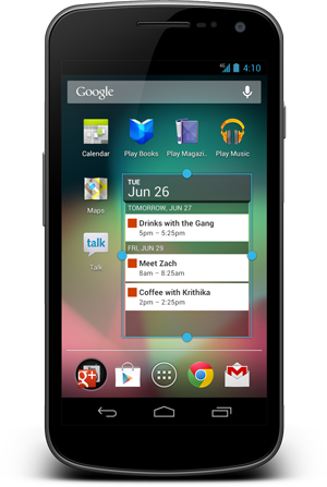 New Android Widgets and Home Screen