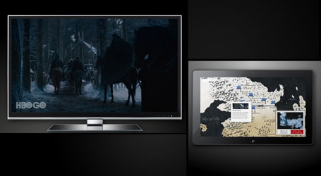 Smart Glass For Xbox 360 With Game of Thrones And Westeros Map (Demo)