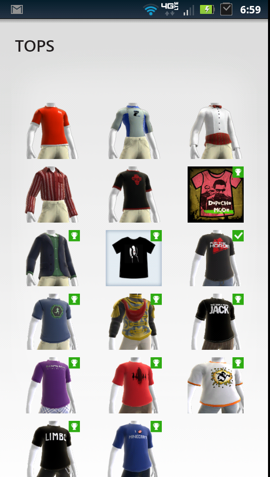 My Xbox Live Avatar Tops